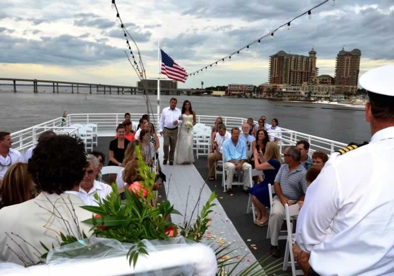 destin wedding venues sky deck sunset wedding murray