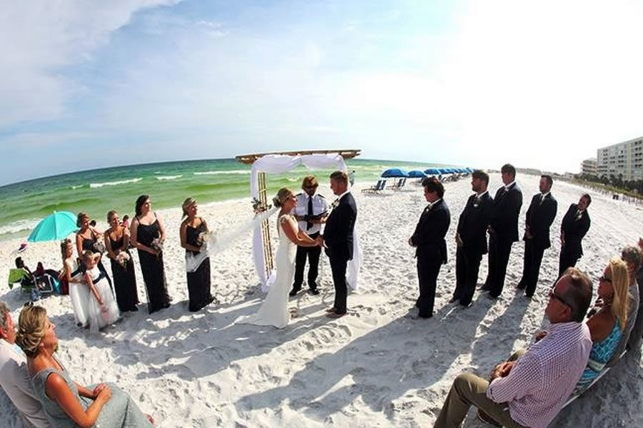 destin beach weddings normans wide angle