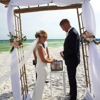 destin beach weddings normans sand ceremony 2