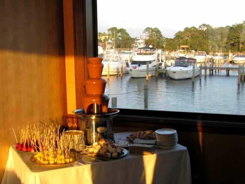 destin wedding menu ideas sunquest chocolate fountain