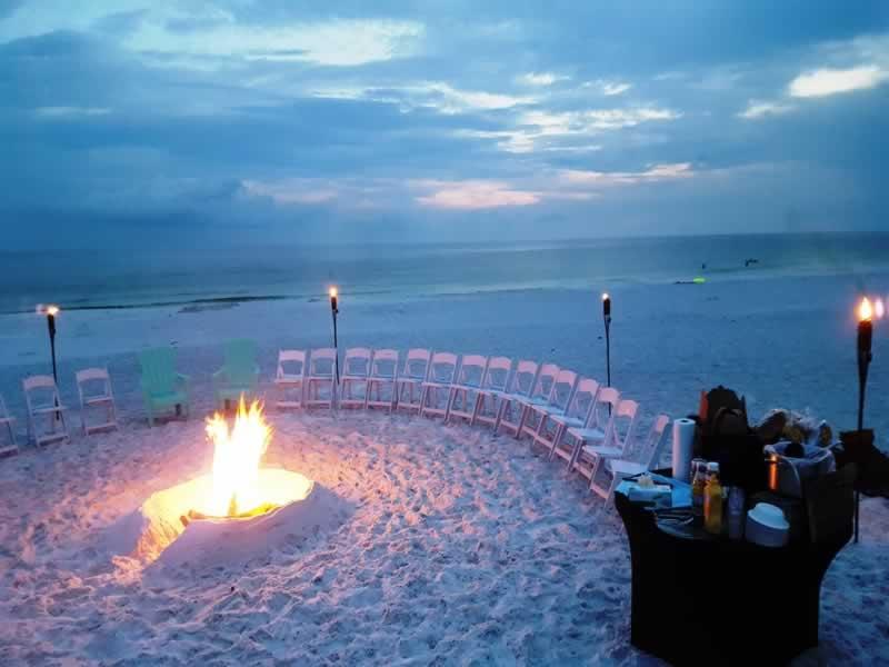 Destin Weddings Beach Bonfire 800