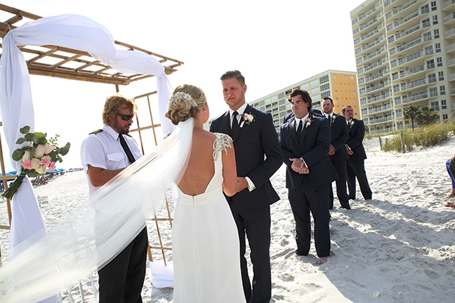 destin beach wedding packages altar close