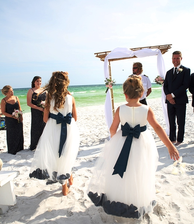 destin beach weddings flower girls