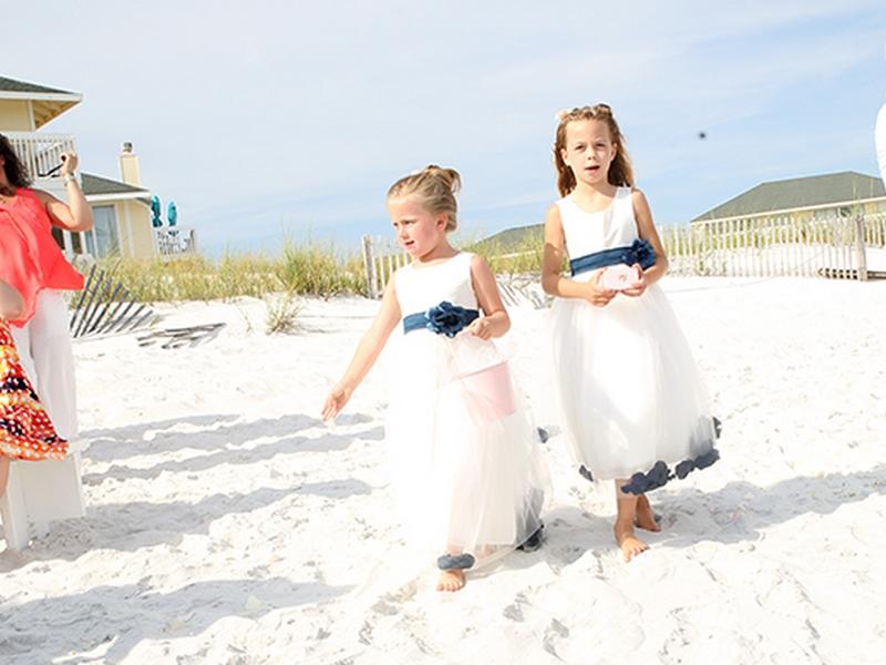 destin beach weddings normans flower girls cr