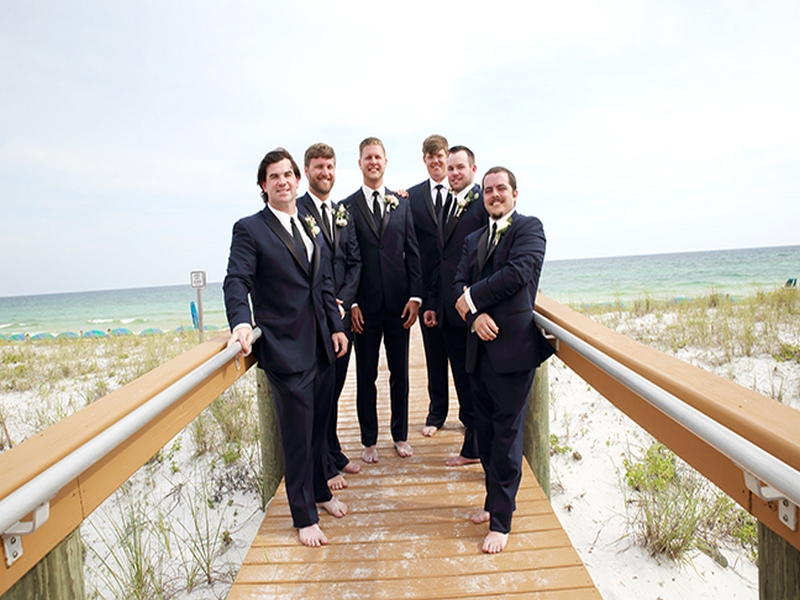 destin beach weddings normans groomsmen
