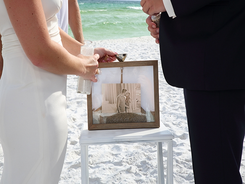 destin beach weddings normans sand ceremony