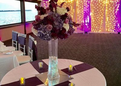 custom destin weddings accent lighting and flowers