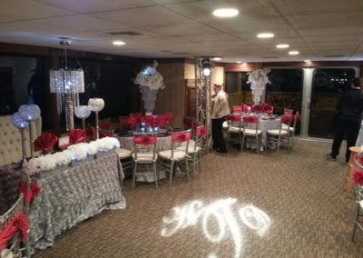 custom destin weddings reception floor lighting