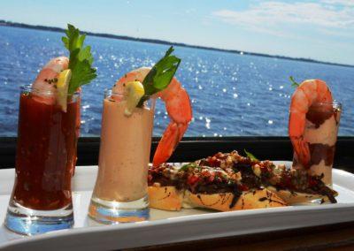 Destin wedding menu shrimp shooters