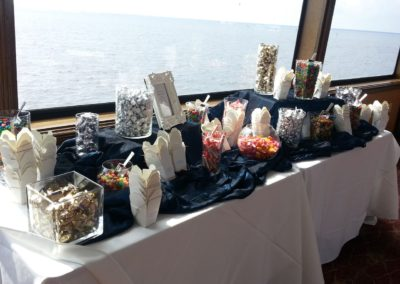 destin weddings custom candy bar