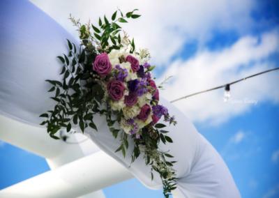 destin wedding flowers purple ceremony