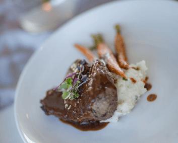 destin wedding menu steak karley wesley