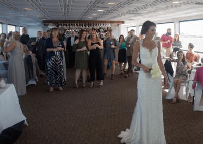 destin wedding reception venues bouquet toss karley wesley
