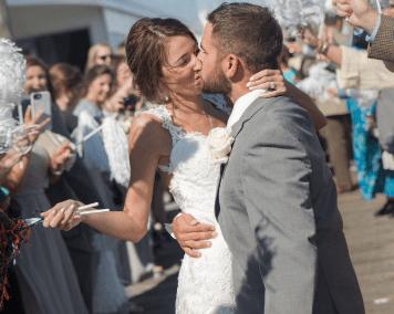 destin weddings exit kiss karley wesley