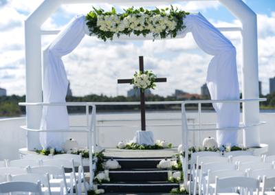 destin weddings wide sky deck karley white pumpkins