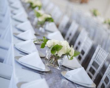 wedding venues destin solaris tablescape white