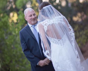 weddings in destin karley first look w dad