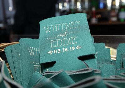 destin weddings eddie and whitney koozies